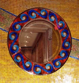 маленькие зеркала в индийском дизайне