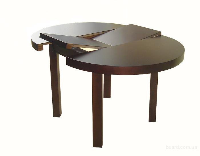 Стол обеденный круглый раздвижной