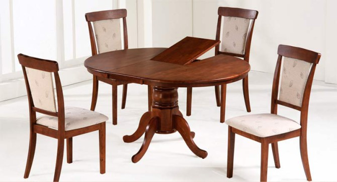обеденный круглый раздвижной стол