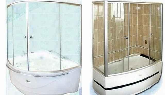 стеклянные шторки для ванной фото