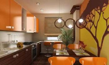 штукатурка на стене кухни