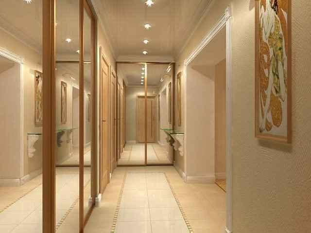 потолки в коридоре длинном