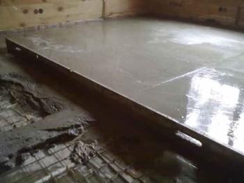 выравнивание бетонного пола самостоятельно