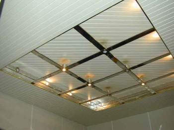 установка реечного потолка