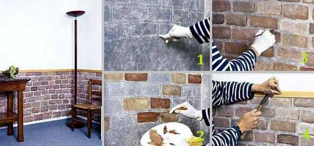 Кирпичная стена своими руками как покрасить