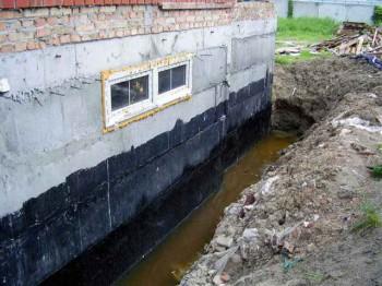 защита фундамента от воды