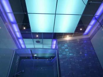 монтаж стеклянного потолка