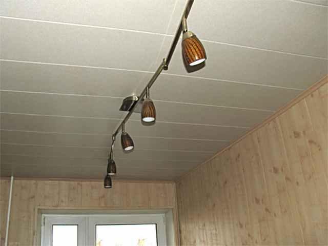 Подвесные потолки из панелей фото