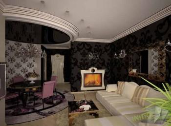 гостинная в стиле арт-деко