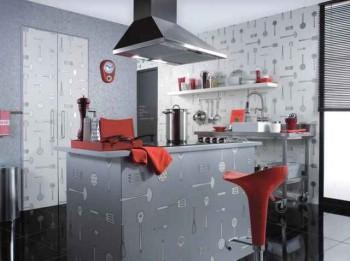 цвет и фактура обоев для кухни