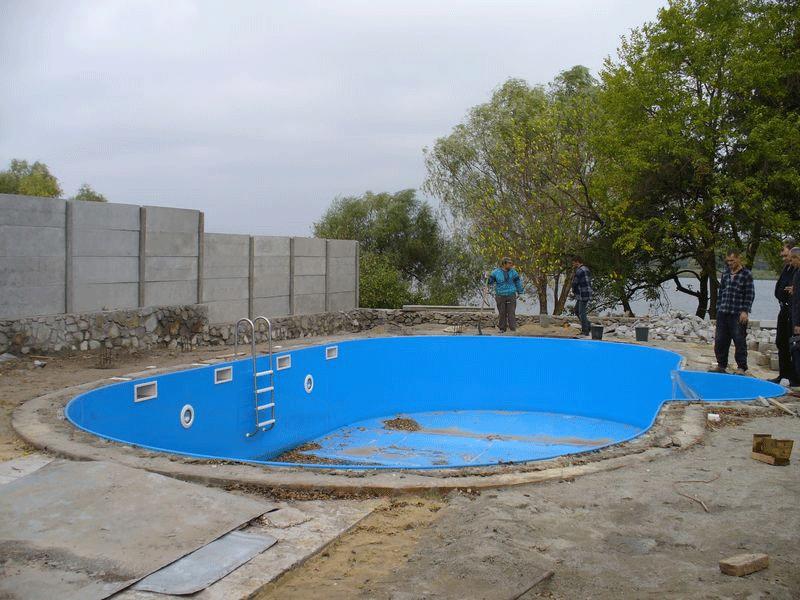 Пластиковый бассейн для дачи фото