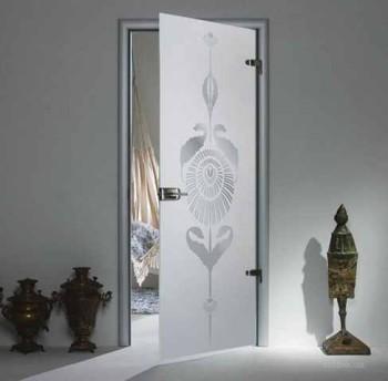 конструкция стеклянных дверей