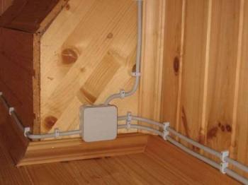 как провести проводку в деревянном доме