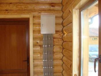 монтаж электричества в деревянном доме