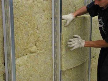 утепление стены минеральной ватой