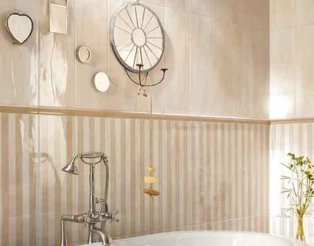 Облицовка стен глазурованной плиткой