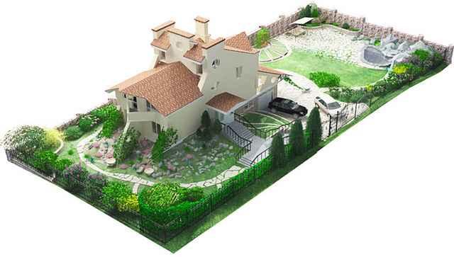 Ландшафтный дизайн участка 10