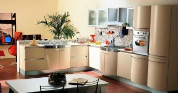 бежевый цвет для кухни