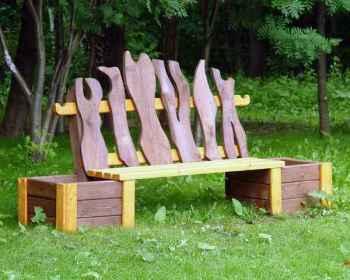 скамейки со спинками