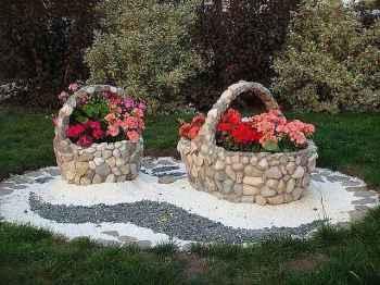 создание клумбы из камня