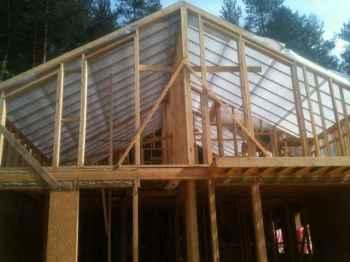 крыша каркасного дома - особенности строительства