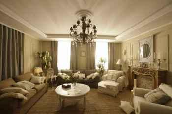 отделка классической гостиной