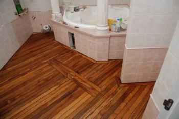 устройство пола в деревянном доме в ванной