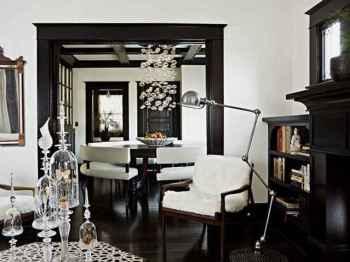 черный цвет в интерьере дома