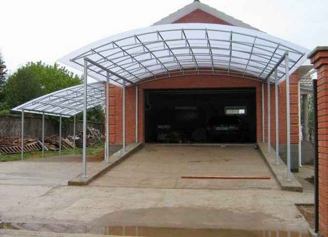 крыши из поликарбоната фото