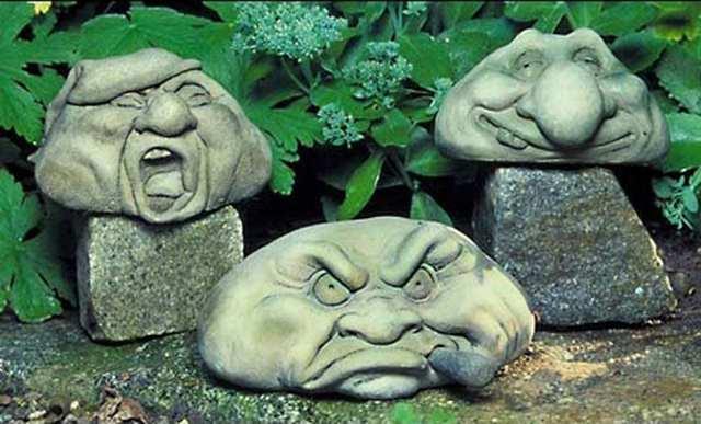 Фигуры для сада из бетона своими руками