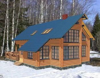 структура кровли деревянного дома