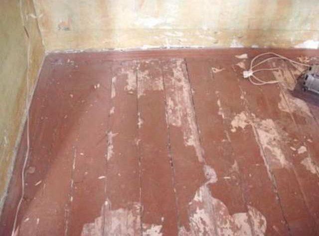 подготовка деревянного пола