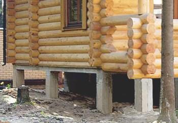 винтовой фундамент для деревянного дома