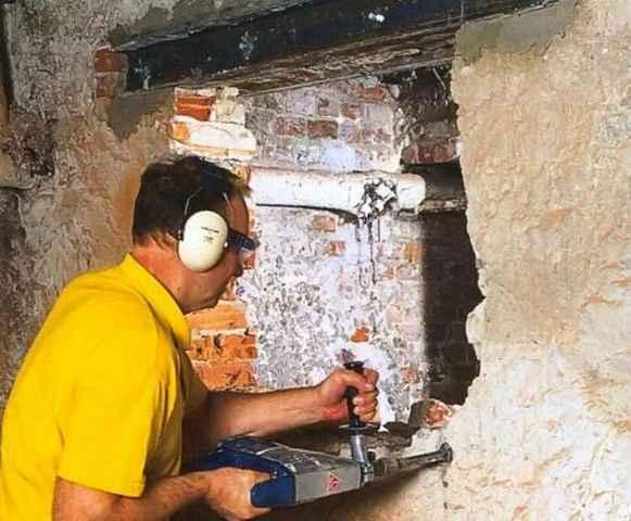 Как сделать проем в бетонной стене своими руками