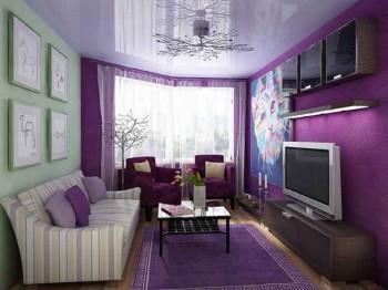 цветовая гармония в гостиной