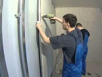 монтаж гипсокартона на стену