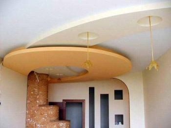 навесные потолки в зал